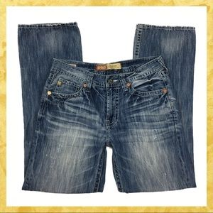 Big Star Distressed Pioneer Bootcut for Buckle